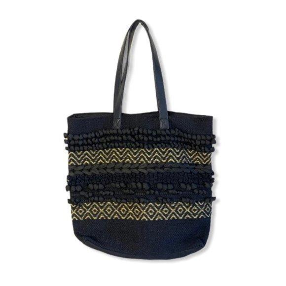 3/$30 Boho Hippie Tote Bag Chevron Macrame
